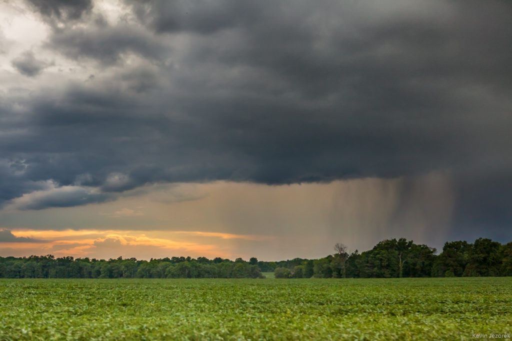 Rain rolling in